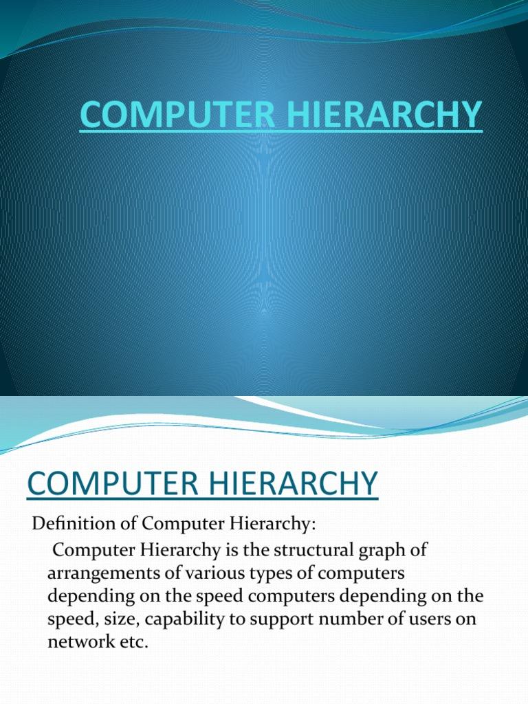 Computer Hierarchy | Workstation | Microcomputers