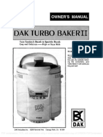 DAK Turbo Baker II FAB 2000 Manual