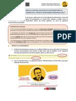 Instructivo Para El Premio Nacional Narrativa y Ensayo José María Arguedas 2017