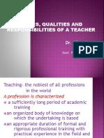 Ethics of Teacher