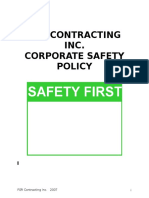 Corporate Safety Policy