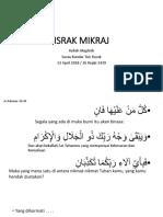 Israk Mikraj Surau Bandar