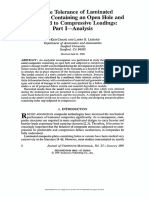 Damage Tolerance of Laminated Composites Containing an Open Hole and Subjected to Compressive Loadings_Part I_Analysis