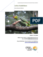 2016 Ecuadorian Amazon EAZA Best Practice Guidelines Approved