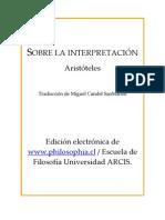 Aristoteles - Sobre La Interpretacion [PDF]