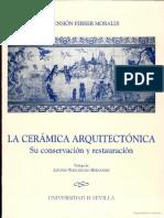 La Ceramica Arquitectonica Su Conservación y Restauración