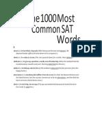 1000 important SAT Words
