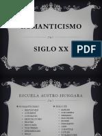 Romanticismo y Siglo Xx