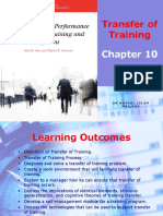 Chapter 10 Transfer of Training 10.11.15