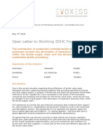 Open Letter to ZDHC Foundation