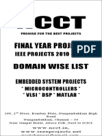 2 --- 2010-11 - IEEE DOMAIN Wise Projects List - Embedded Electronics Electrical Communication - New Projects List
