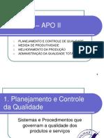 Administração Da Produção II - Unidade 3