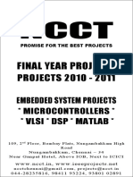 1 --- 2010-11 - Embedded Projects List 2010 - Non IEEE Embedded Electronics Electrical Communication - New Projects List