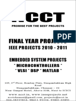 1 --- 2010-11 - IEEE Embedded Projects List - Embedded Electronics Electrical Communication - New Projects List