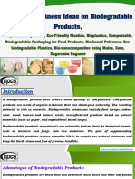 Profitable Business Ideas on Biodegradable Products