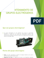 Mantenimiento de Grupos Electrógenos