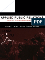 [Larry Lamb Et Al]Applied Public Relations - Cases in Stakeholder Management(2005)