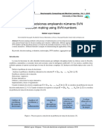 Toma de decisiones empleando números SVN Decision making using SVN numbers