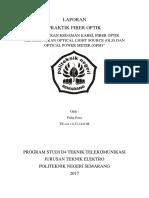 Faliq Faza_Job 2 Pengukuran Redaman Kabel FO Menggunakan OLS Dan OPM_TE-4A