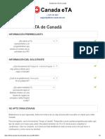 Solicitud de ETA de Canadá