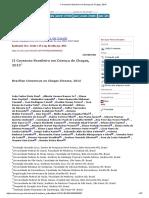 II Consenso Brasileiro Em Doença de Chagas, 2015