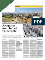Arequipa Una Ciudad Vulnerable