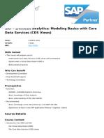 s4hana Analytics Modeling Basics With Core Data Services Cds Views (1)
