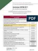 Reglamento-Cronograma de Elecciones CECEFIM 2017-2018