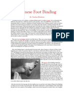 Chinese Foot Binding Reading by Candace