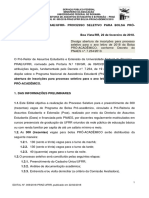 Edital n. 009 2018 Prae Ufrr Bolsa Proacademico 2018