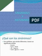 Sinc3b3nimos y Antc3b3nimos
