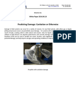 Predicting Cavitation Damage Reg