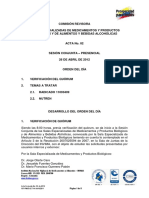 Revisión de Oficio Medicamentos a Alimentos Regimen Especial