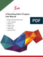 XYZprinting Add-In Program User Manual_ En