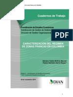 Caracterización Del Régimen de Zonas Francas en Colombia