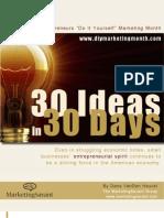 30 Ideas 30 Days
