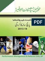 Sports & Tourism - KPK Performance report 2013-2018