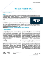 Real Stirling Cycle