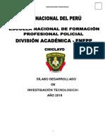 Silabo INVESTIGACIÓN TECNOLOGICA I 2018.docx