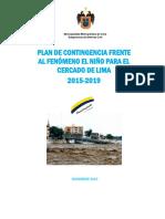 -1209Plan de Contingencia FEN 2015 - 2019 - Cercado. Nov. 2015