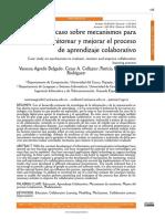Estudio de Caso Sobre Mecanismos Para Evaluar Aprendizaje Colaborativo