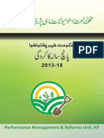 Agriculture Department KPK - Performance report 2013-2018