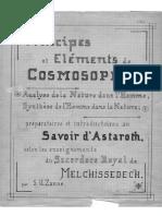 Principes Et Elementes de Cosmosophie
