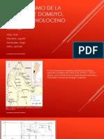 Vulcanismo de La Región de Domuyo, Neogeno-Holoceno