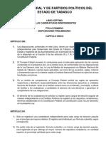 Ley Electoral y de Partidos Políticos Candidaturas Independientes