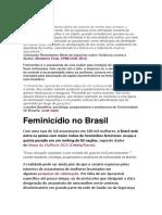Feminicidio No Brasil