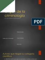 Origen de La Criminología