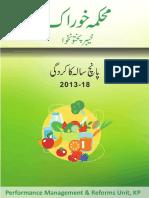 Food Department KPK - Performance report 2013-2018