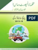 Transport Department KPK - Performance report 2013-2018