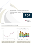 Investment in unconventional and conventional, oil and gas production, Energy Aspects (2018)